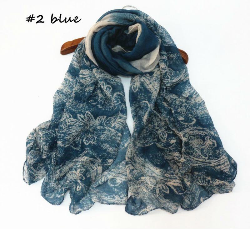 2016 new design Paisley scarfs winter women hijab fancy shawls graffiti good quality gorgeous bandana muslim pashmina 7 colours(China (Mainland))