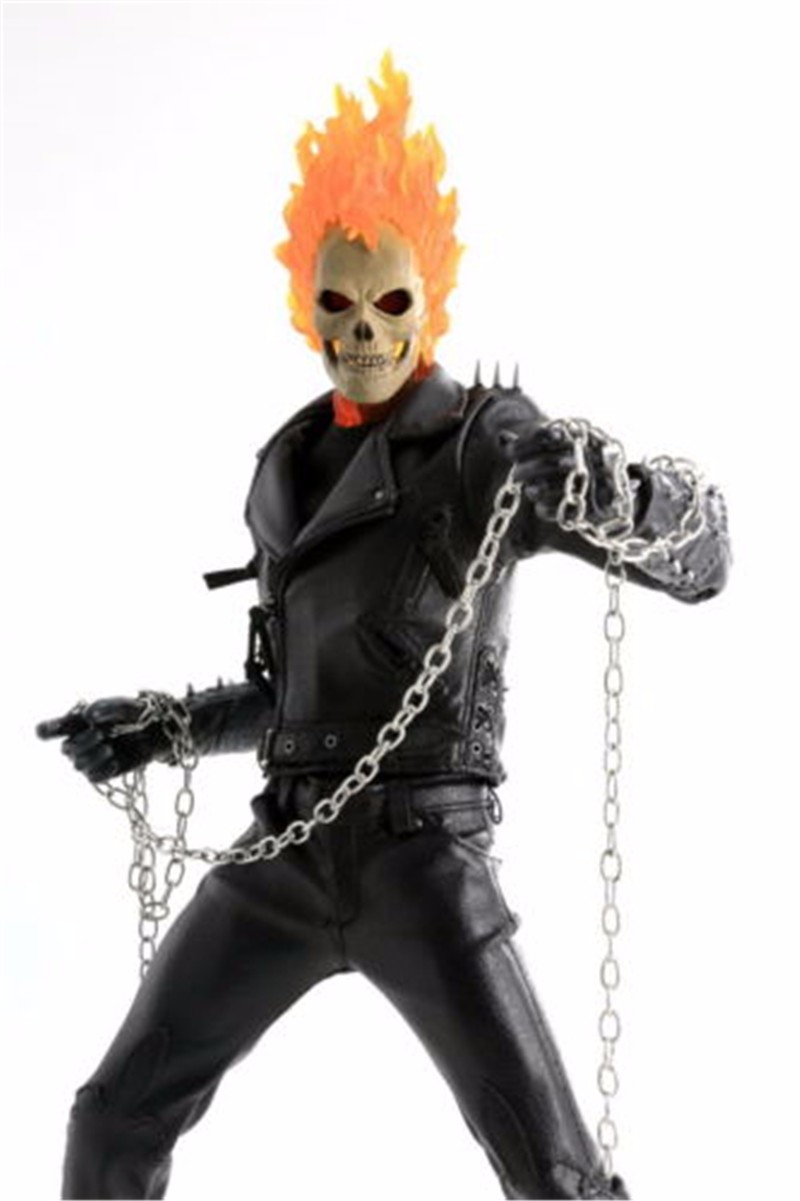 "Terror 1/6 Scale Ghost Rider Male Head Sculpts Model Toys For 12"" Male Action Figure Accessory(China (Mainland))"
