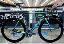 popular 2015 complete Carbon Road Bike Bicycle 22 speed full bicycle with 50mm carbon wheelset carbon fiber complete road bike(China (Mainland))