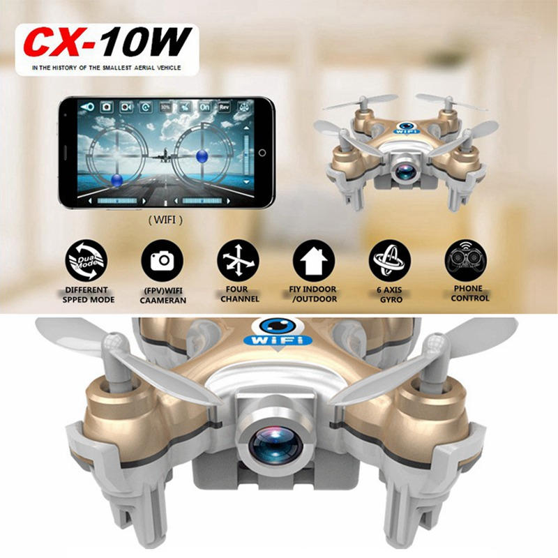 WiFi Drones With Camera Cheerson CX-10W Quadcopters Rc Dron FPV Flying Camera Helicopter Remote Control Hexacopter Toys Copters(China (Mainland))