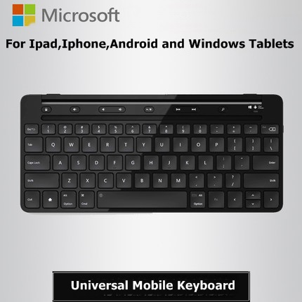 Rechargeable Micosoft Universal Mobile Keyboard Portable Bluetooth Keyboard For Ipad,Iphone ,Android and Windows Tablets(China (Mainland))