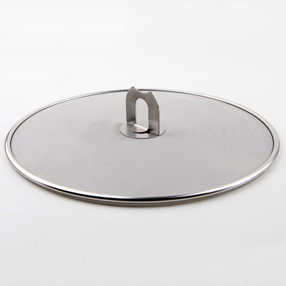 """Multi Function Practical Cooking Tools 9.8""""Stainless Steel Frying Pan Splatter Screen with Folding Handle(China (Mainland))"""