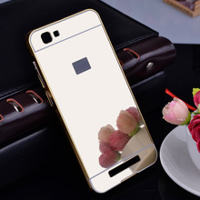 Buy ZTE V6 Max Case Aluminum Phone Metal Frame Acrylic Mirror Back Cover ZTE Blade A610 5.0 Mirror Cases Bumper Fundas for $3.86 in AliExpress store