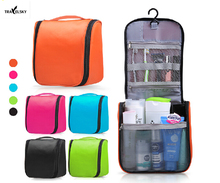 Upgrade large Ladies Wash Bag Toilet Bag Hanging  Makeup Bag 1pcs 5 candy colors waterproof wear-resisting  free shipping 13547