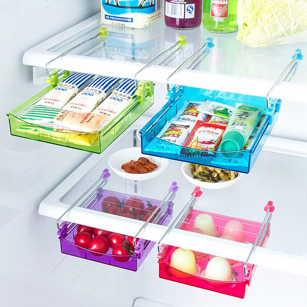 Kitchen Gadgets 4-Color Portable Slide Kitchen Fridge Freezer Space ...
