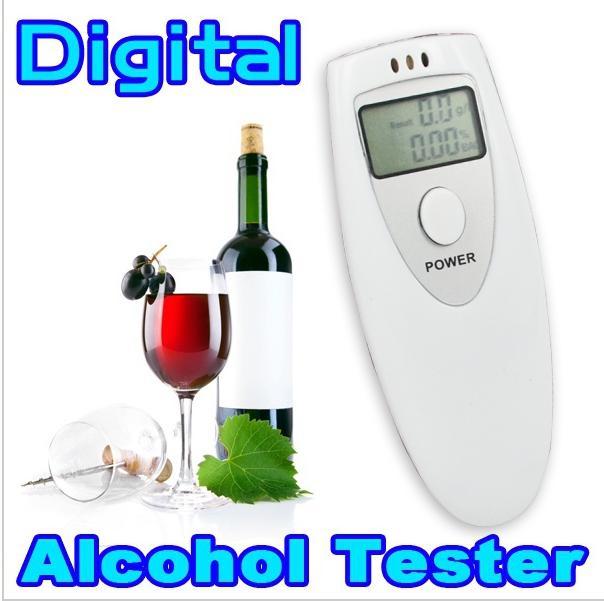 1 Pcs Hot Mini Prefessional Police Breath Alcohol Tester Meter Portable Strap Home Alcohol Analyzer Digital Breathalyzer(China (Mainland))