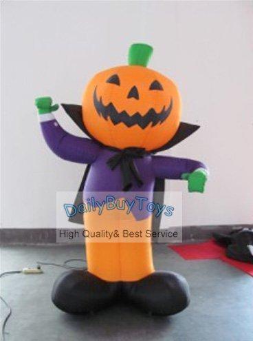 Dc45 2m high inflatable pumpkin cartoon halloween for M m halloween decorations
