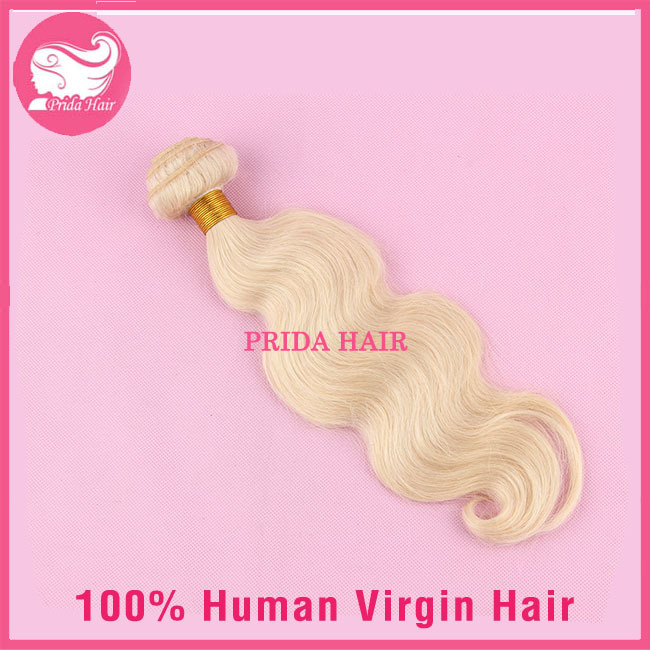 Unprocessed Human Virgin Peruvian Blonde Hair Extensions Body Wave Platinum Blonde Hair Weave 613 Blonde Virgin Hair Bundles 1pc