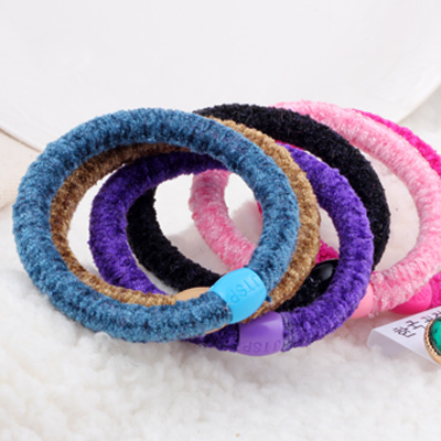 0320 plush elastic tousheng headband rubber band rubber band hair accessory overstretches small accessories