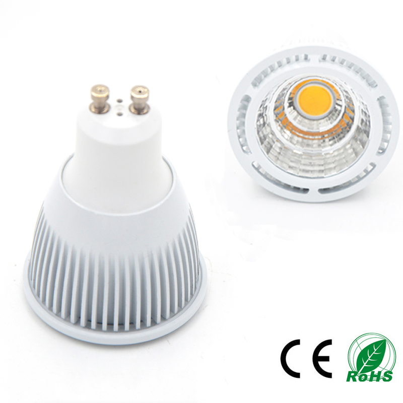 Super Bright GU10 Bulb Light Dimmable Led Ceiling light Warm White AC85-265V 3W 5W 7W GU10 COB LED lamp light GU10 led Spotlight(China (Mainland))