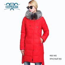 2019 Nouveau Hiver veste femme grande taille Longue Fourrure De Raton Laveur Femmes Chaudes Manteau de Haute Qualité Biologique de Femmes Parkas CEPRASK(China)