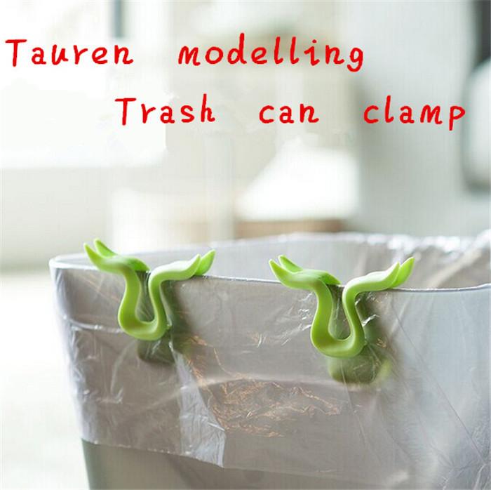 1set/2pcs vuilnisbak clip houder klem creatieve modellering huis keuken gereedschap vuilnisbak afvalemmer prullenbak zak vast s-2 gratis verzending(China (Mainland))