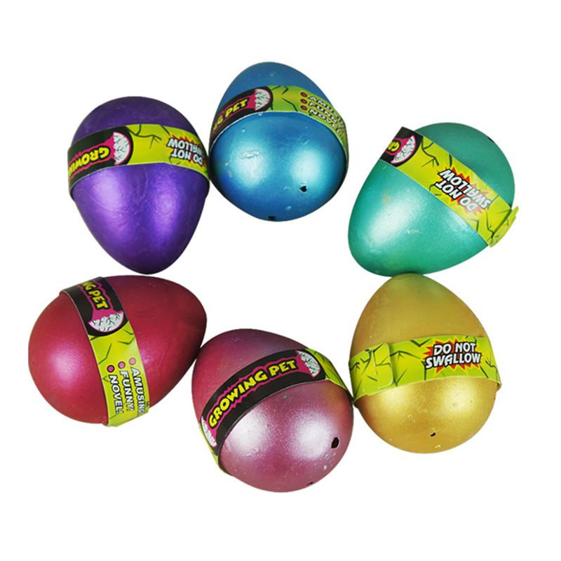 Large 6CM colorful magic dinosaur eggs novelty Magic automatic growth of evolutionary hatching eggs toys hot creative kids toys(China (Mainland))
