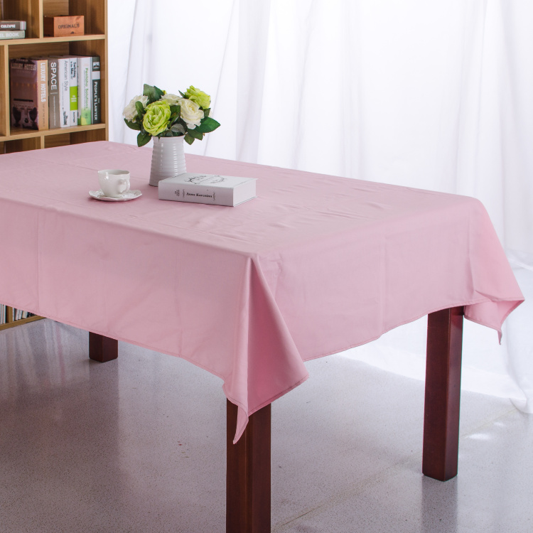 Solid Color Orange Pink Blue RoseRed Dining Tablecloth Canvas Cotton Table Cloth Picnic 0utdoor Coffee Party Wedding Table Cover(China (Mainland))
