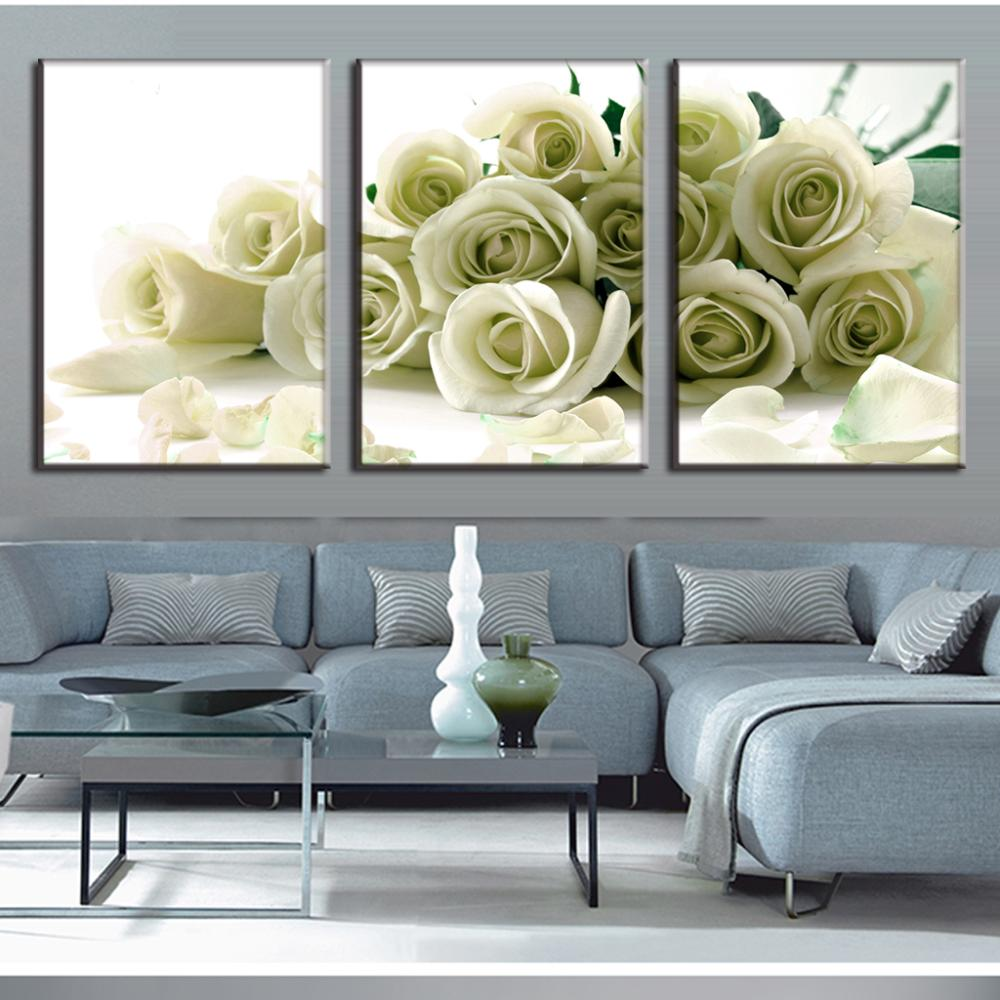 3 Pcs Set Brand Hot Sale Canvas Picture Flower Painting