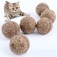 Pet Cat Natural Catnip Treat Ball Favor Home Chasing Toys Healthy Safe Edible Treating(China (Mainland))