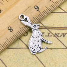 Buy 10pcs Charms rabbit 26*14mm Tibetan Silver Plated Pendants Antique Jewelry Making DIY Handmade Craft for $1.10 in AliExpress store