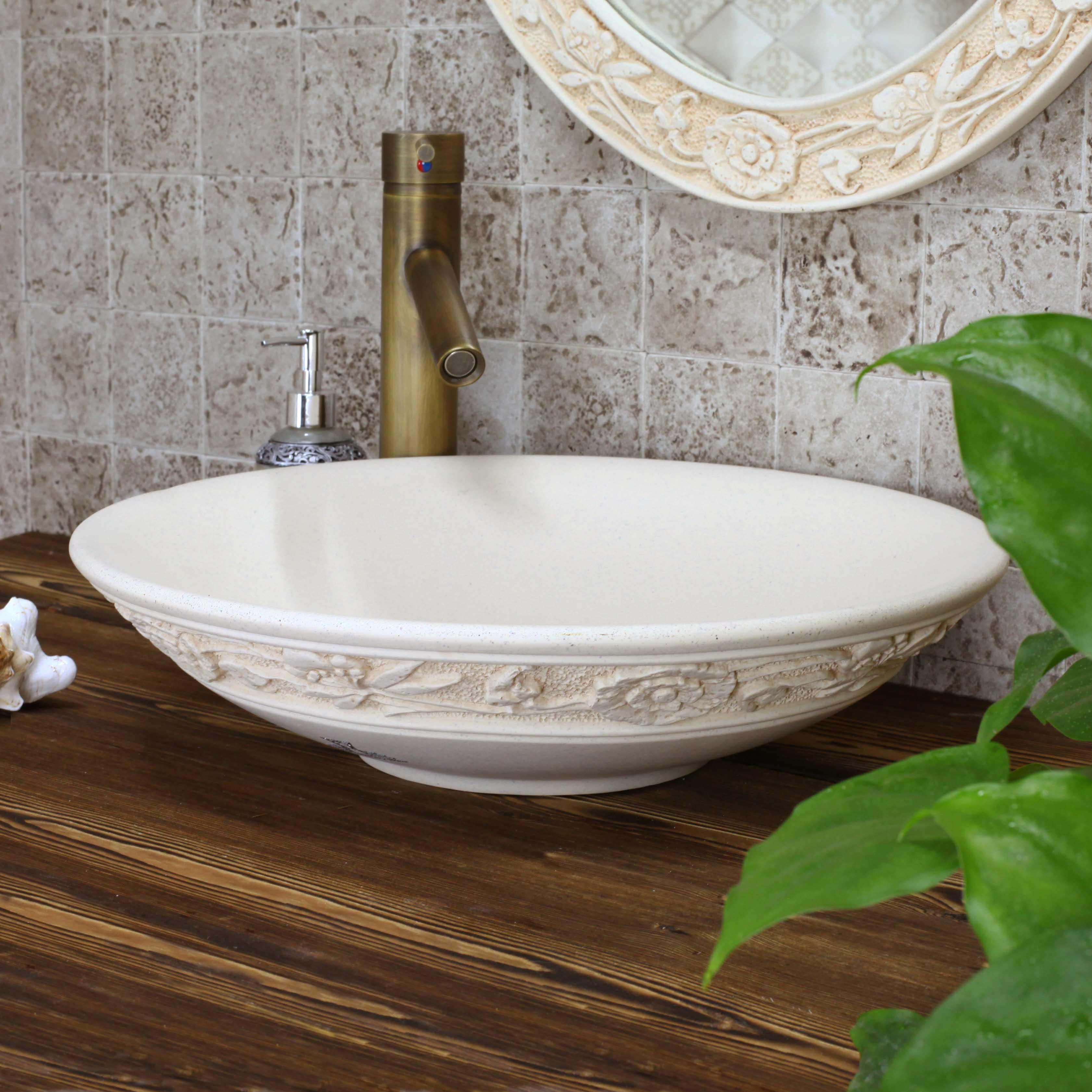 esculpida meaka lavatório moda bacia contador do banheiro lavatório #456E20 3363 3363