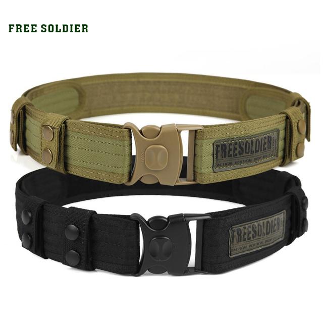 FREE SOLDIER Outdoor camping hiking sport 100% teflon tactical belt men accessories belt
