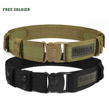 FREE SOLDIER Outdoor camping hiking sport 100% teflon tactical belt men accessories belt(China (Mainland))