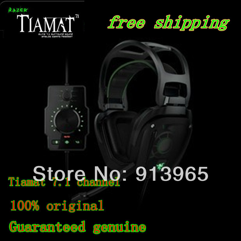 discount price 100% original Razer Tiamat 7.1 Gaming Headset,Original headphones&New in BOX,Fast ,free shipping +by hk post(China (Mainland))