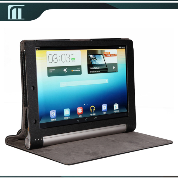 Lenovo Yoga tablet 10 B8000 B8000-F PU Leather Case Stand Smart Cover Pouch 10 inch Tablet PC free