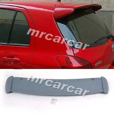 Фотография 2004-2015 ABS Unpainted Grey Primer Rear Wing Spoiler ,Bigger Upper Boot Lip Spoiler Fit For Toyota Yaris