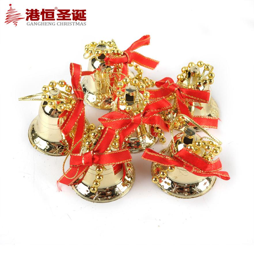 Christmas tree bundle mini bell 6 christmas hangings for Christmas decoration suppliers