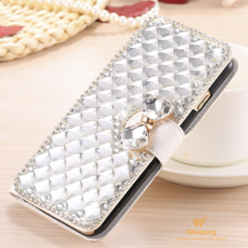 Luxury Bling Crystal Rhinestone Diamond Flip Leather Case Cover for Apple iPhone 5c Credit Card Holder Kickstand Wallet Bag(China (Mainland))