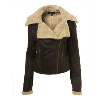 Autumn winter women fashion leather clothing female short design fur one piece coat - A Roy's store