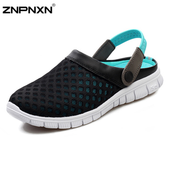 New 2015 Men Clogs Garden Shoes Fashion Breathable Clogs Men Summer Slippers For Men Summer Brand Beach Shoes Size 39-44