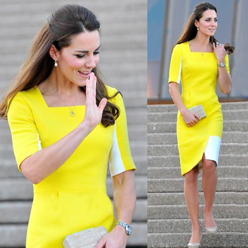 Платье контраст желтый