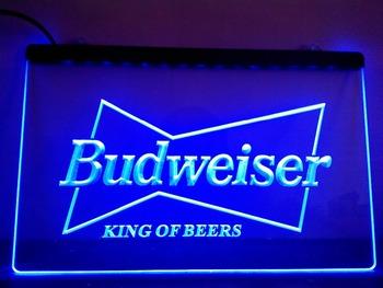 LE009- Budweiser King Beer Bar Pub Club LED Neon Light Sign