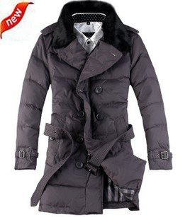Big wool double-breasted waistband fur mens coats outerwear coat winter men down jacket winter D006