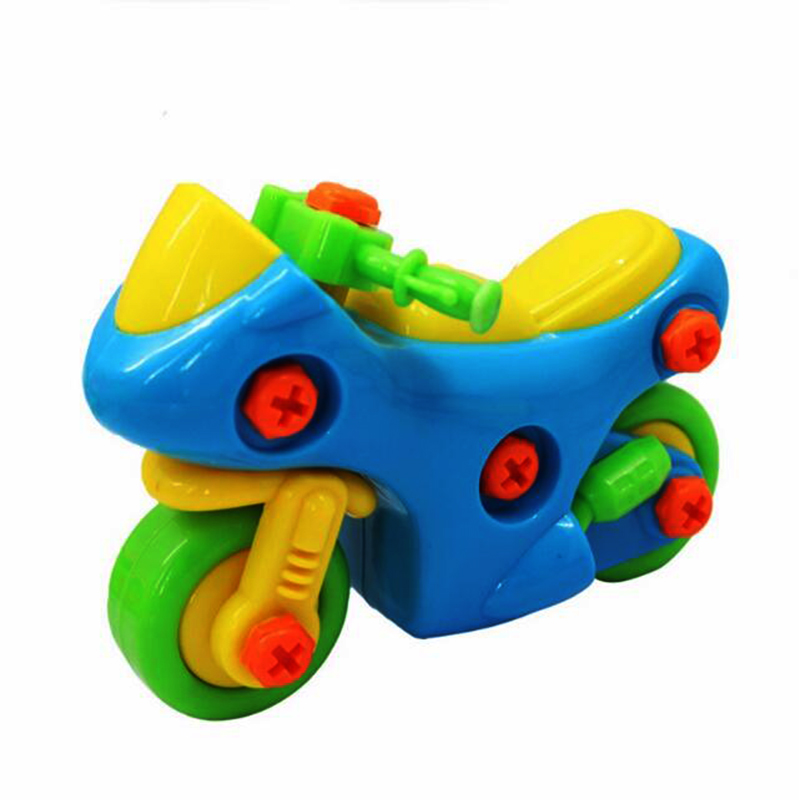 3D Motorcycle Puzzles DIY Bicycle Bike Children's Toys Assembled Toy With Tool Clamp and Screwdriver Educational Toy
