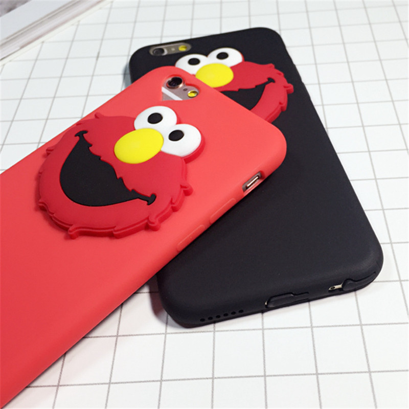 2016 New Arrivals Silicone Case For iPhone 6 6s Plus 5 5S 5SE 3D Cute Cartoon Ultra-thin Protector Cover Skin Shell E273
