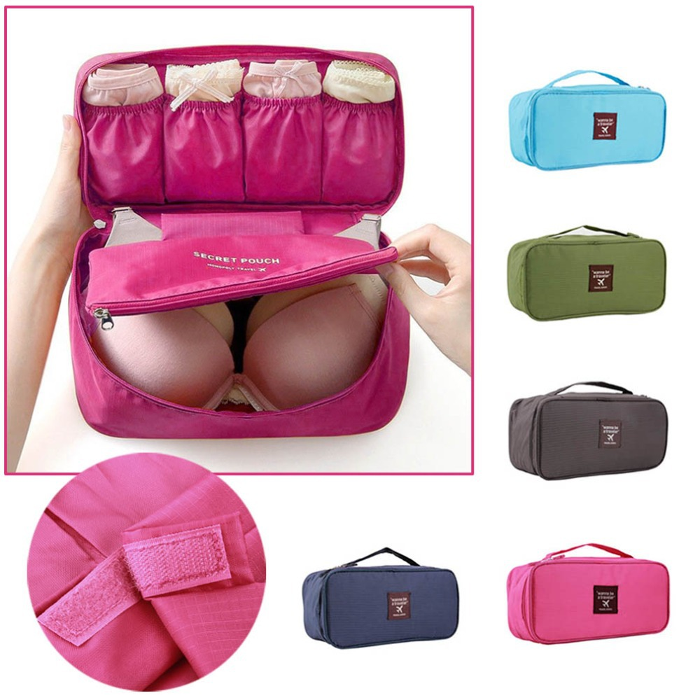 Travel Organizer Cosmetic Bag Portable Luggage Storage Case Bra Underwear Pouch Drawer Dividers Container(China (Mainland))