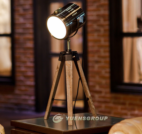 Newest Design PARIS RETRO Royal Air Force Wood tripod Table lamp Desk light Searchlight ,Bronze Silvery Free Shipping YSL-0185(China (Mainland))