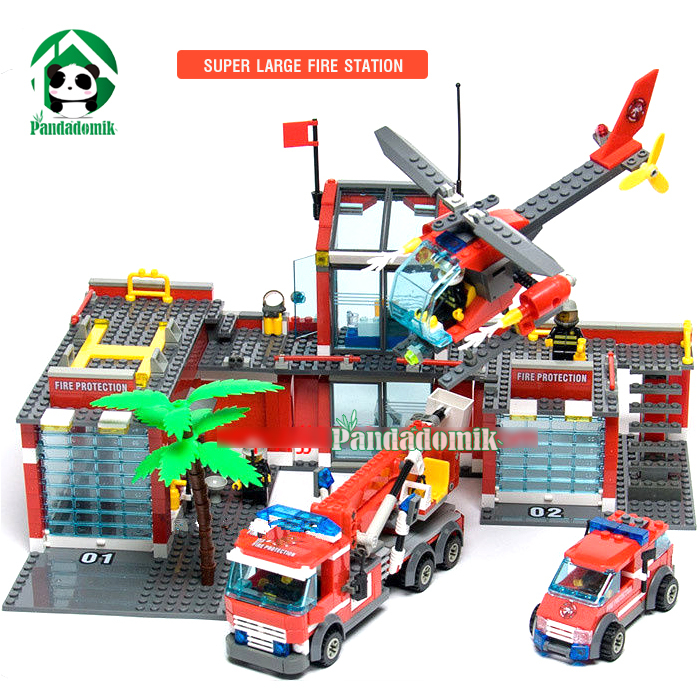 Super Large Fire Station 774 Pcs Building Blocks Compatible with lego Helicopter / Educat