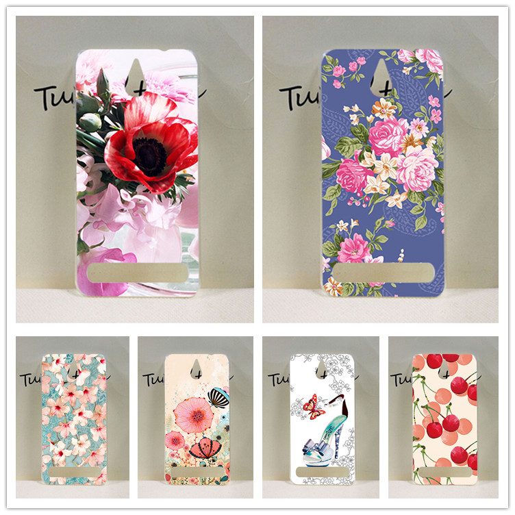 Sony Xperia E1 Case Cover,Luxury Diy UV Painted Colored Flowers Fruit Hard PC Case Sony Xperia E1 Cover Sheer Bags