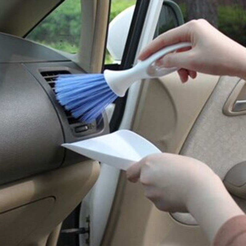 2 in1 Mini Car Cleaning Brush Broom Dustpan Set Outlet Vent Flow Air Conditioner Dashboard Laptop Computer Keyboard Cleaner Tool(China (Mainland))
