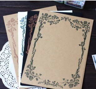 Retro Style 14.5x21cm Vintage Love Letter Paper Writing Paper 15sets/lot (8 sheets/set) Free shipping<br><br>Aliexpress