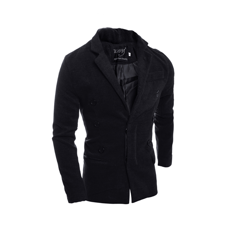 2016 men cultivating solid color unique front buckle dark fashion mens trench coat boutique windbreaker gothic clothing men(China (Mainland))