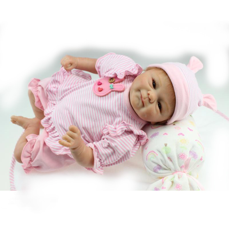 New Arrival 18 Inches Lifelike Realistic Reborn Baby Dolls Soft Silicone Vinyl Toys Best Playmate Gift for Kids Children(China (Mainland))