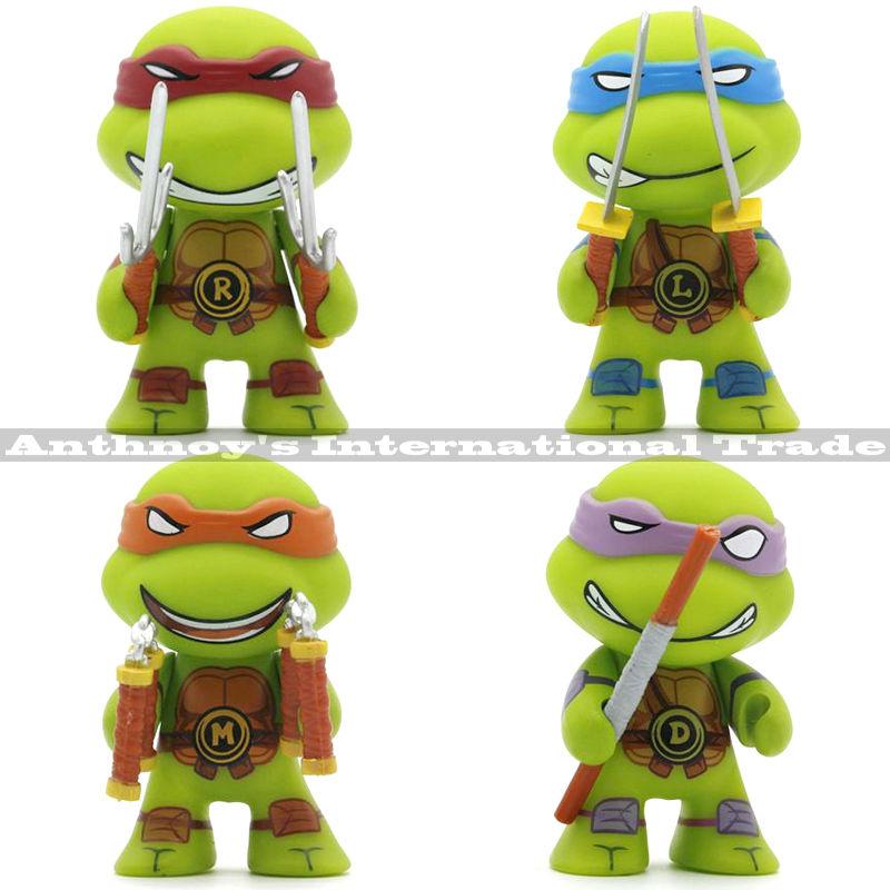 4pcs/lot Teenage Mutant Ninja Turtles figures TMNT Action Figure Toys Dolls Raphael TURTLES anime Ninja Turtles(China (Mainland))