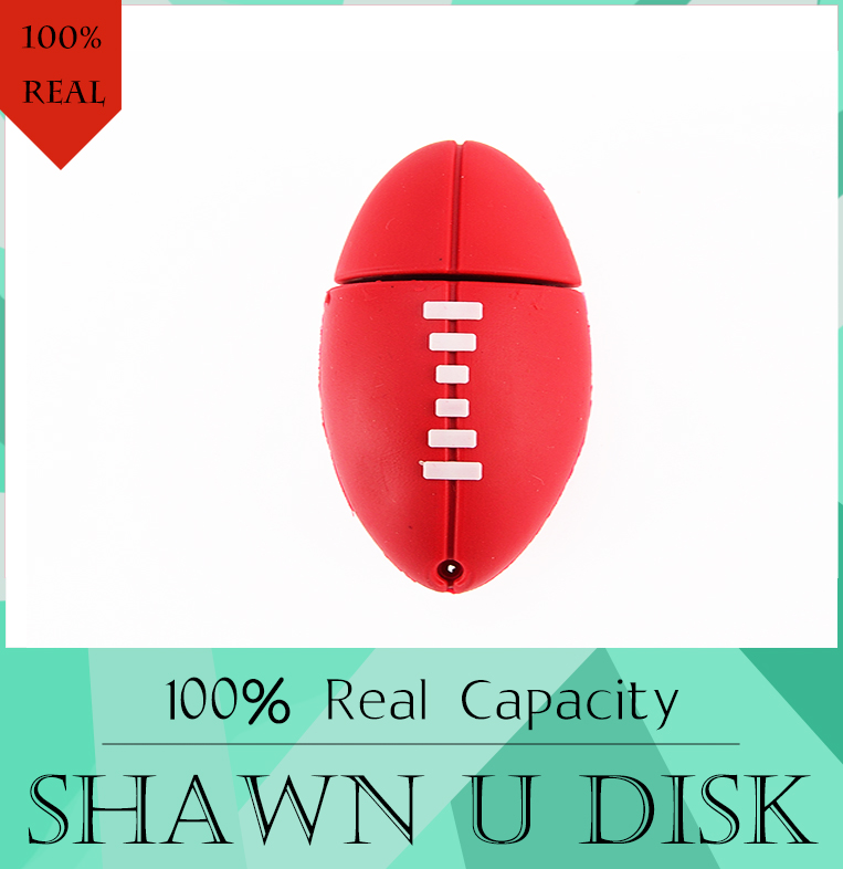 American Football Sports Rugby U Disk 4GB 8GB 16GB 32GB USB Flash Drive 512GB 2.0 Memory Drive Stick Pendrive Creative Pen Drive(China (Mainland))