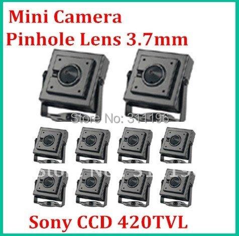 mini security surveillance camera with pinhole lens 3.7mm Sony 1/3'' Color CCD 420TVL Color Miniature Camera ,10pcs/lot(China (Mainland))