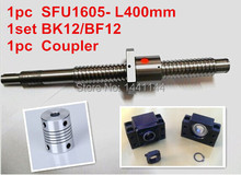 antibacklash ball screw 1605 - 400mm end machined -C7+ BK/BF12 Support + 6.35*10mm coupler The Jason August store