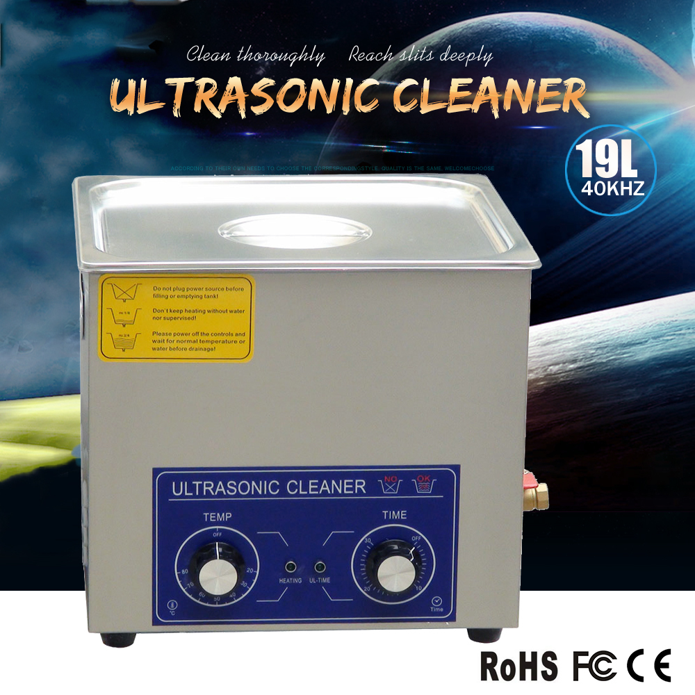 19L professional ultrasonic cleaner for printer,lens,jewelry, 19l seal cleaning with 1-30mins timer and heater.(China (Mainland))