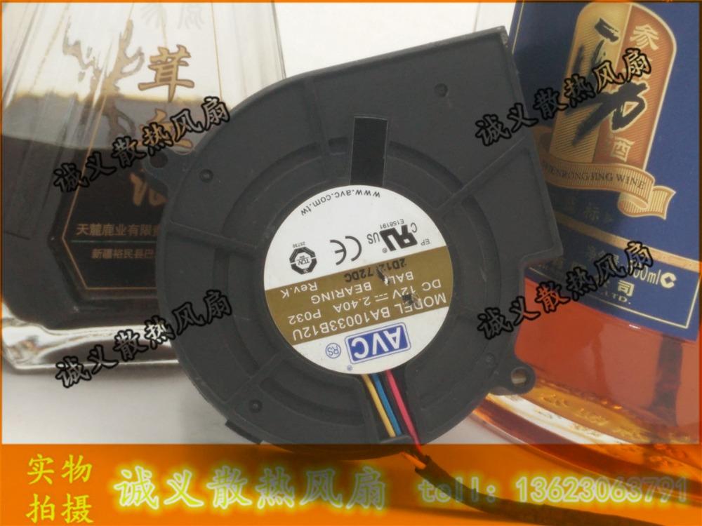 Original AVC BA10033B12U 9733 97*97*33mm turbine centrifugal fan Blower 12V 2.4A double ball bearing fan <br><br>Aliexpress